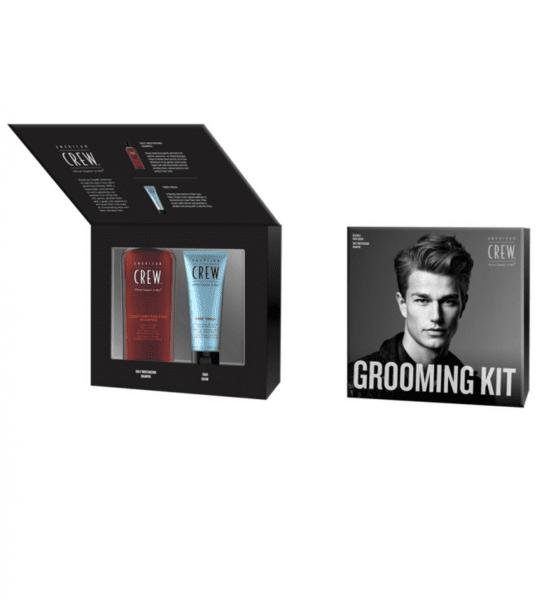 Комплект овлажняващ шампоан + стилизант за коса - American Crew Daily Moisturizing Shampoo & Fiber Cream Grooming Kit